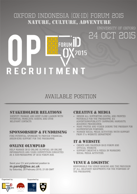 Open Recruitment OX ID PPI